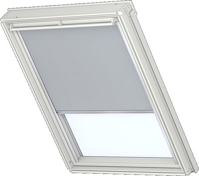 velux verdunkelungsrollo f r holzfenster alufarbige schienen premiumfarbe grau 1705. Black Bedroom Furniture Sets. Home Design Ideas