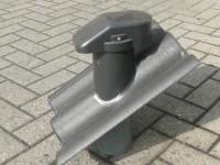 Rhedach Beton/PVC Sanitärlüfter DN 100 für Braas Betondachstein FRANKFURTER Pfanne
