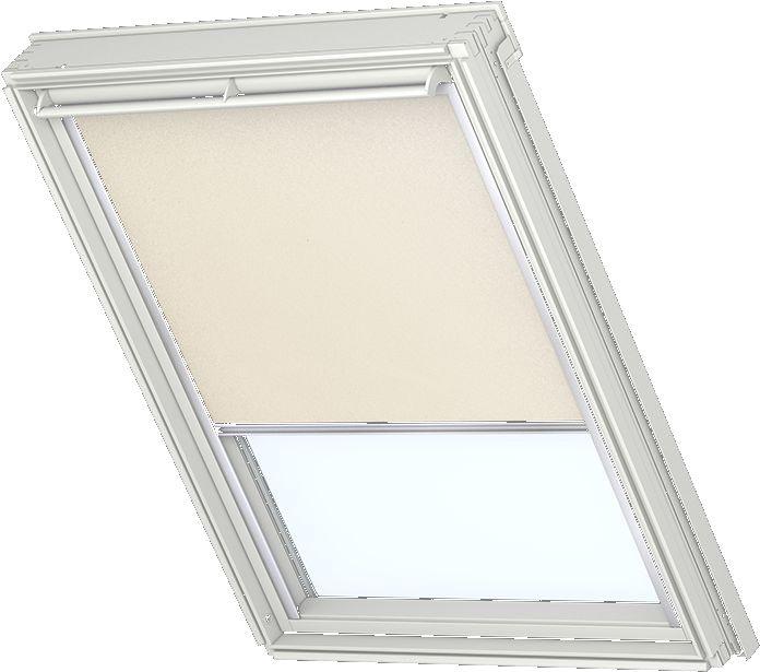 Velux Verdunkelungsrollo Fur Weisse Fenster Alufarbige Schienen